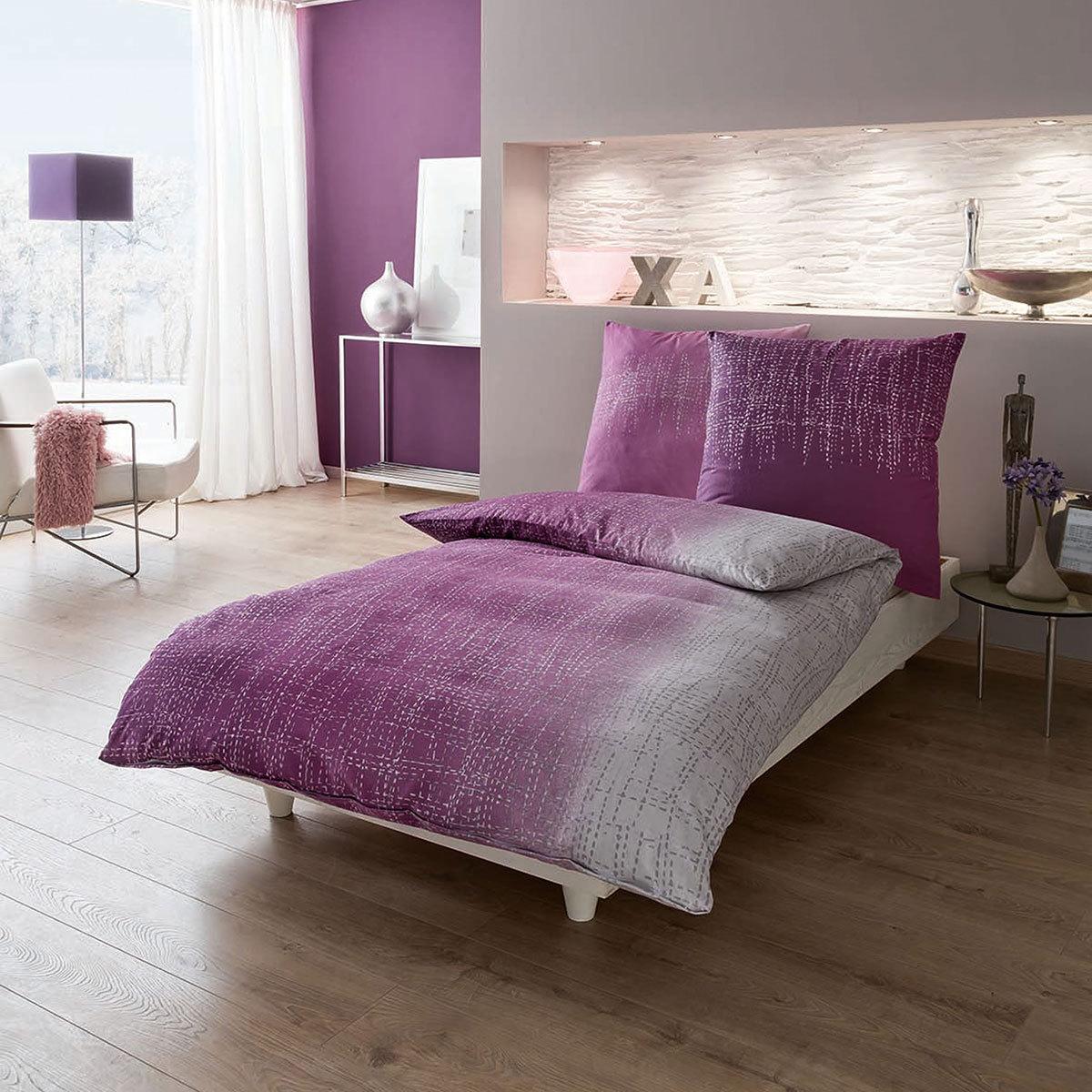 kaeppel biber bettw sche tonight violett g nstig online kaufen bei bettwaren shop. Black Bedroom Furniture Sets. Home Design Ideas