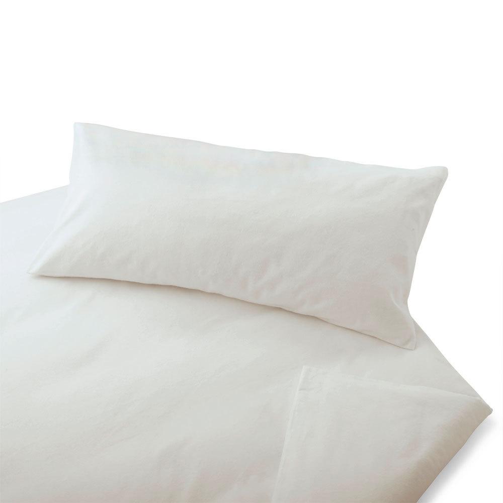 Cotonea Biber Bettwäsche Uni Weiß Bio Baumwolle Günstig Online