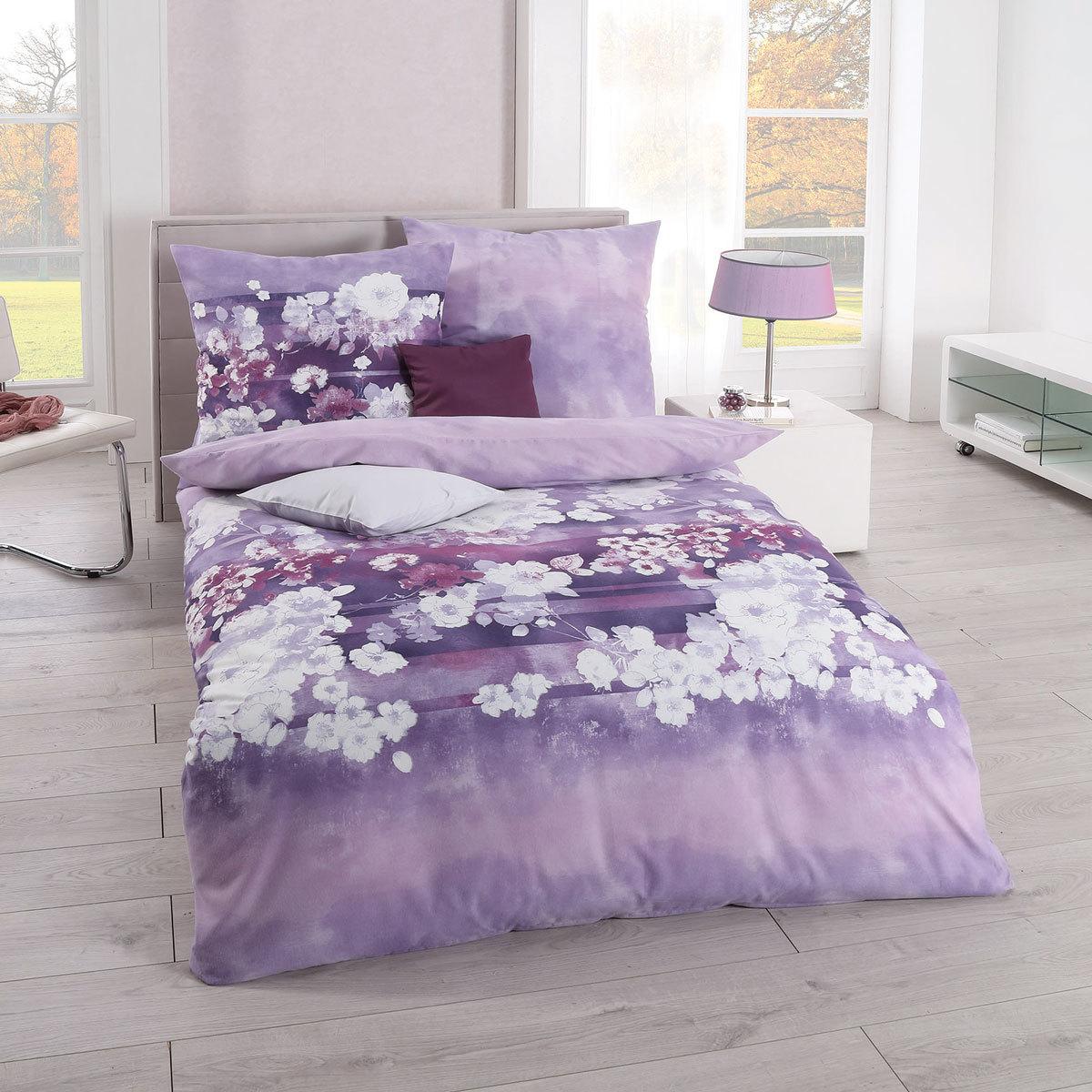 Kaeppel Biber Bettwäsche Valentine lavendel