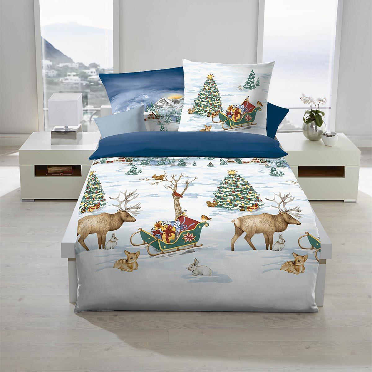 traumschlaf biber bettw sche winterzauber g nstig online kaufen bei bettwaren shop. Black Bedroom Furniture Sets. Home Design Ideas