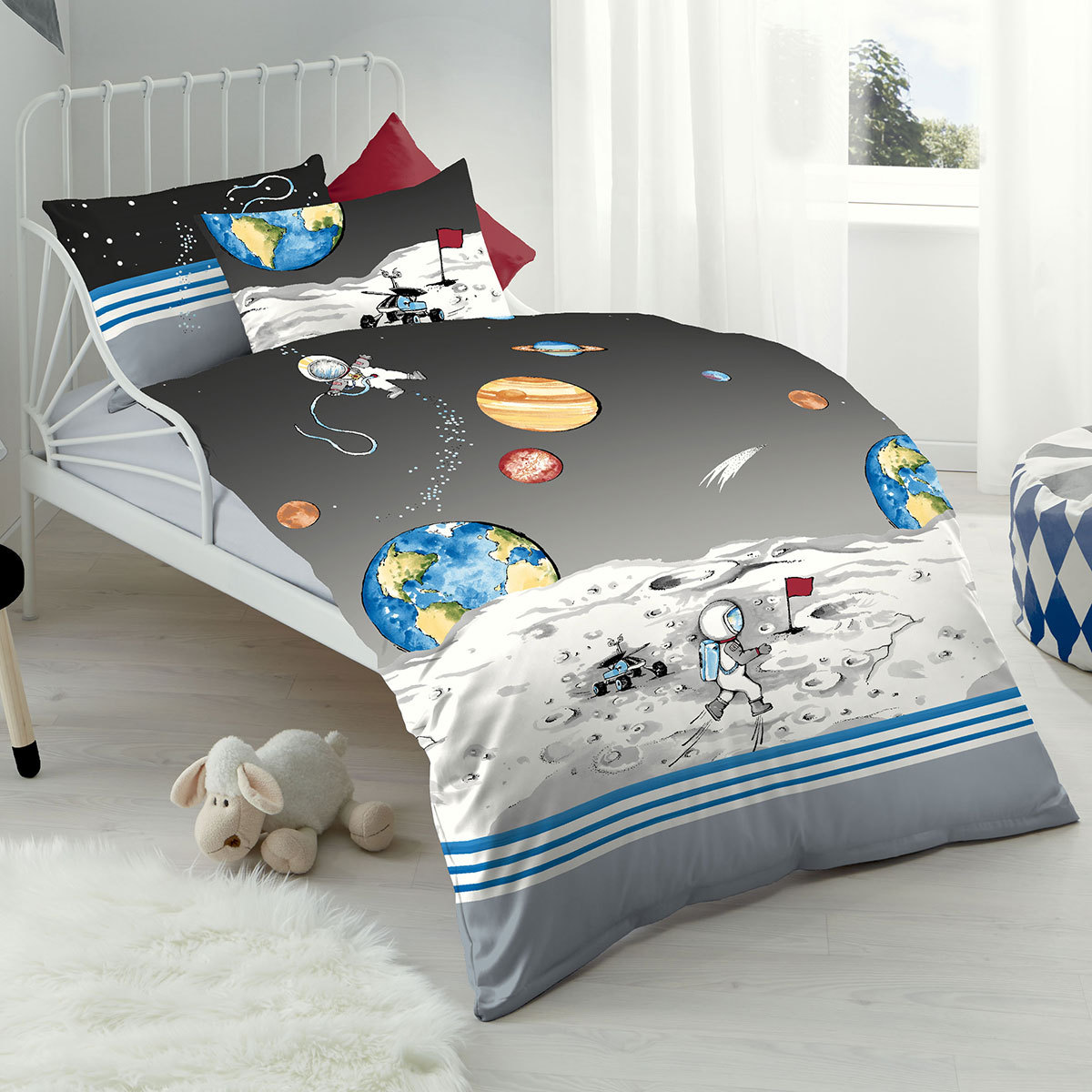 kaeppel biber kinderbettw sche astronaut g nstig online kaufen bei bettwaren shop. Black Bedroom Furniture Sets. Home Design Ideas