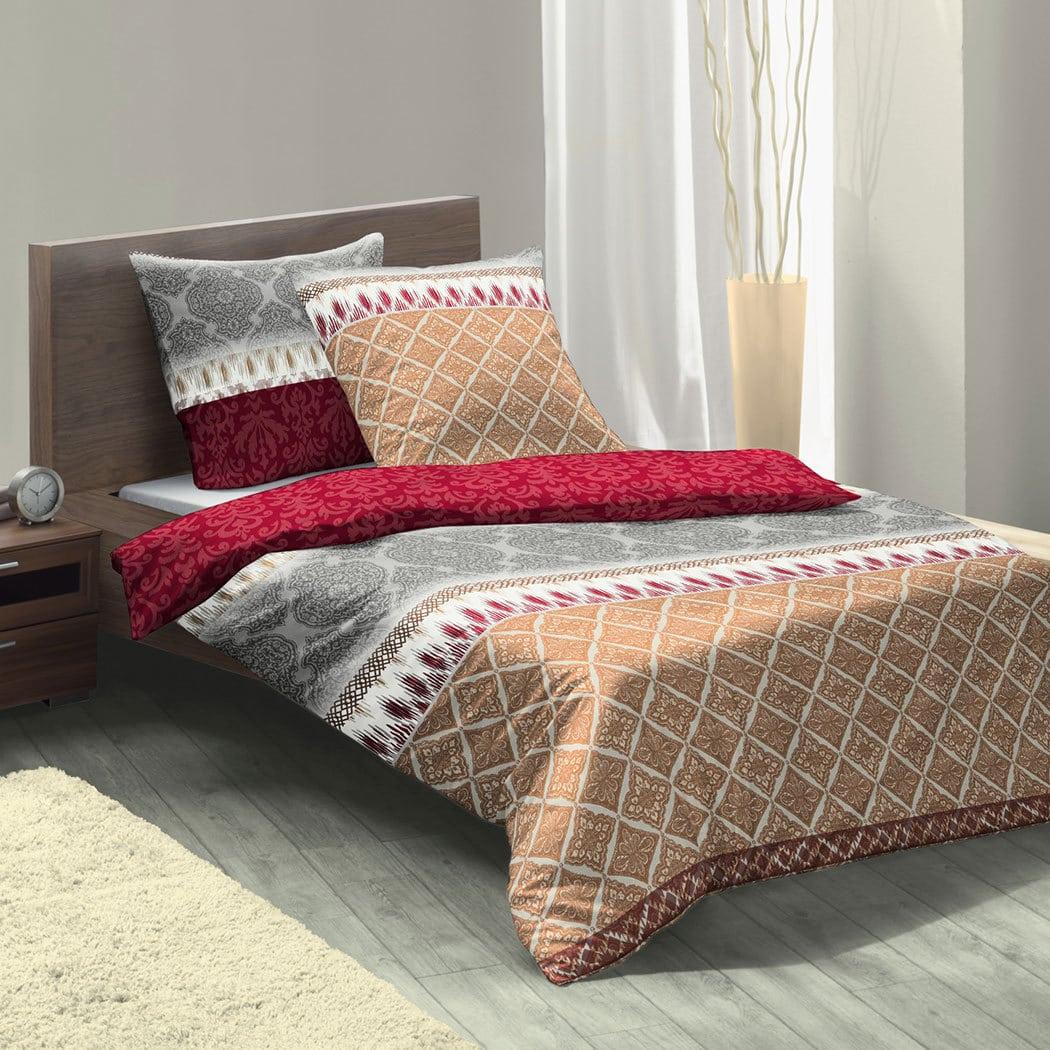 fleuresse biber wendebettw sche davos paisley rot g nstig online kaufen bei bettwaren shop. Black Bedroom Furniture Sets. Home Design Ideas