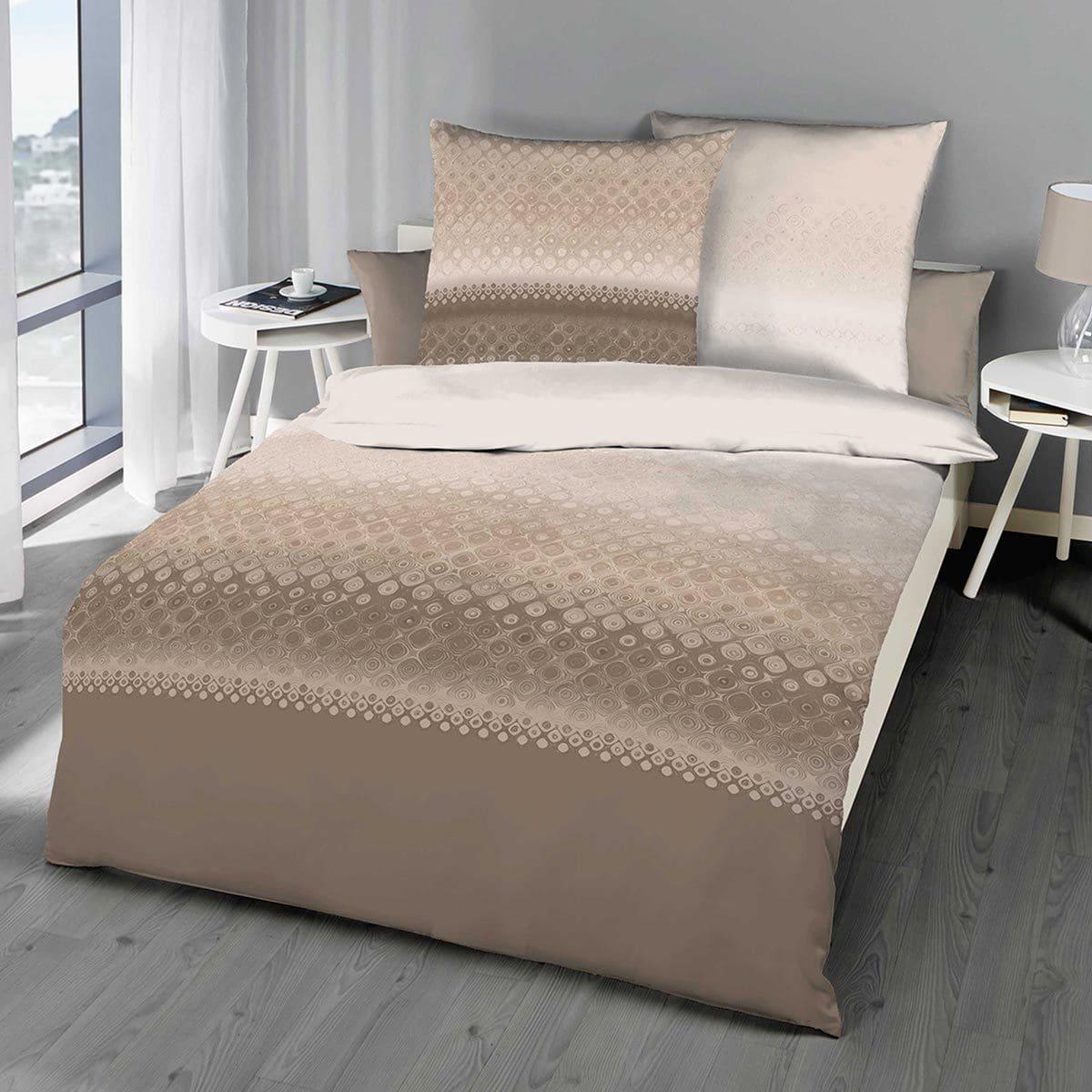 kaeppel biber wendebettw sche fluent braun g nstig online kaufen bei bettwaren shop. Black Bedroom Furniture Sets. Home Design Ideas