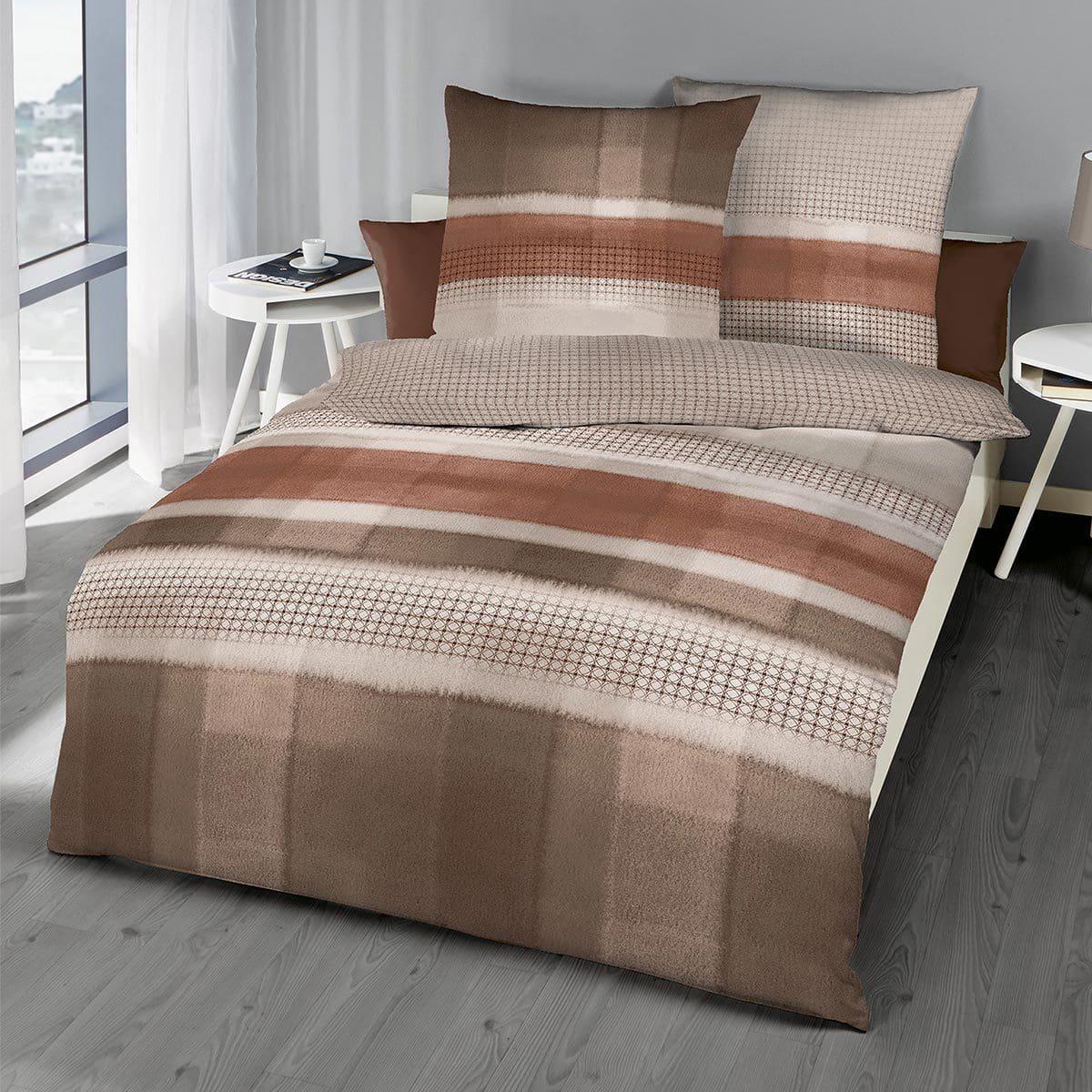 kaeppel biber wendebettw sche shadow nougat g nstig online kaufen bei bettwaren shop. Black Bedroom Furniture Sets. Home Design Ideas