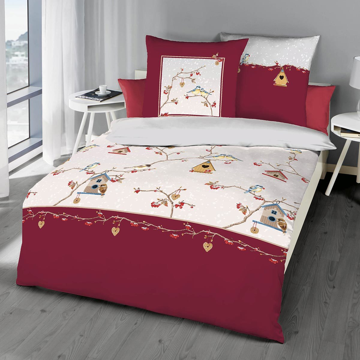 bettw sche biber rot kopfkissen bio heller schimmel im. Black Bedroom Furniture Sets. Home Design Ideas