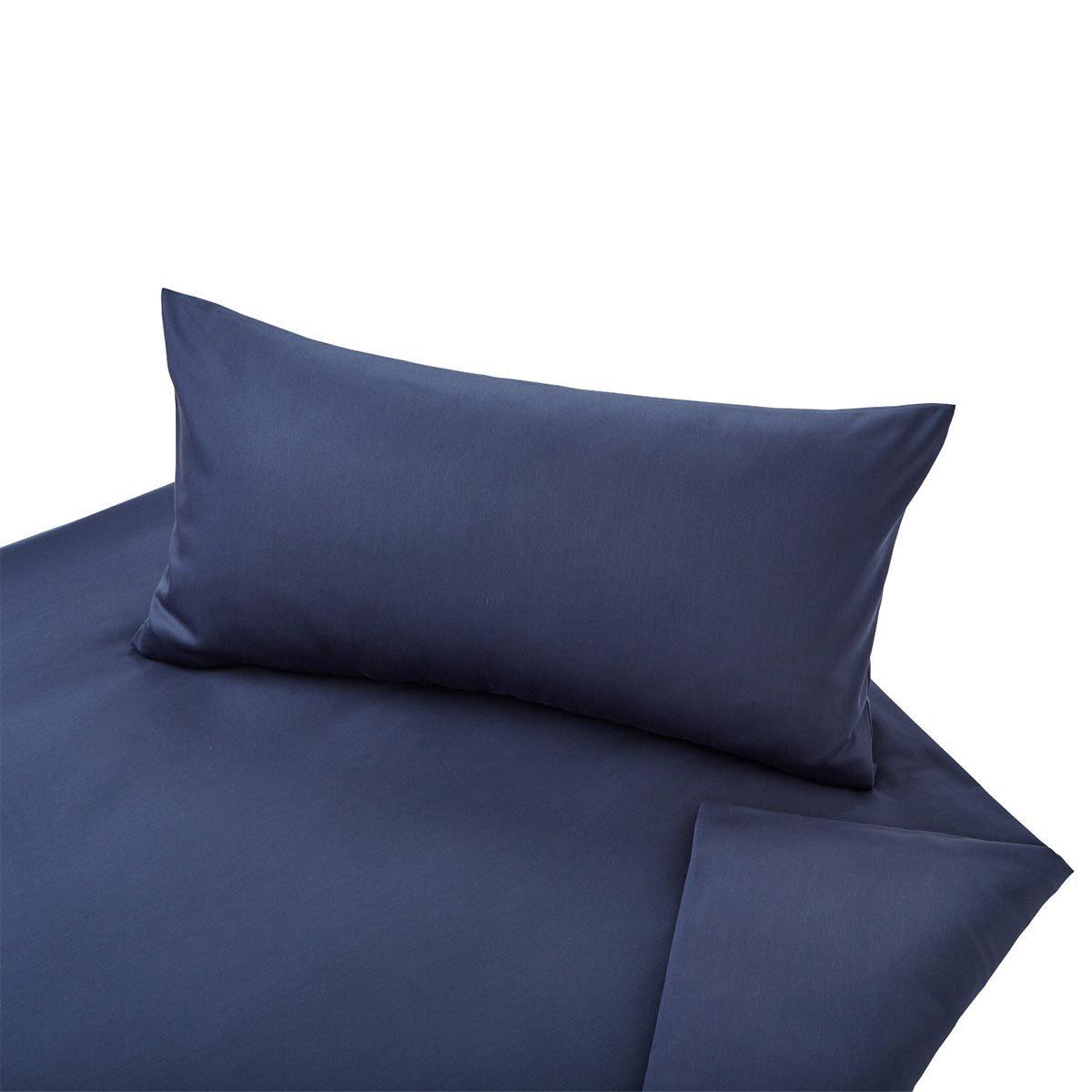 Cotonea Bio-Satin Bettwäsche Classic azurblau