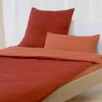 cotonea bio wende bettw sche rot orange g nstig online kaufen bei bettwaren shop. Black Bedroom Furniture Sets. Home Design Ideas