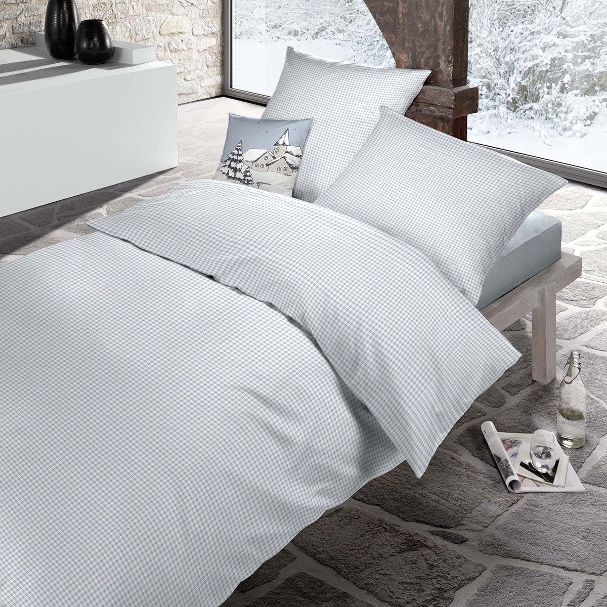 schlafgut casual cotton bettw sche starcheck hellblau g nstig online kaufen bei bettwaren shop. Black Bedroom Furniture Sets. Home Design Ideas
