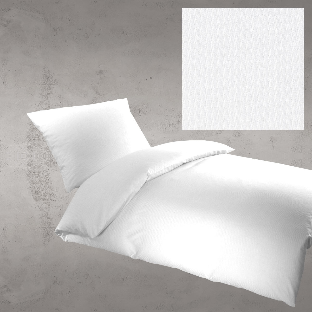 bettwarenshop damast objekt bettw sche laura 2mm weiss g nstig online kaufen bei bettwaren shop. Black Bedroom Furniture Sets. Home Design Ideas