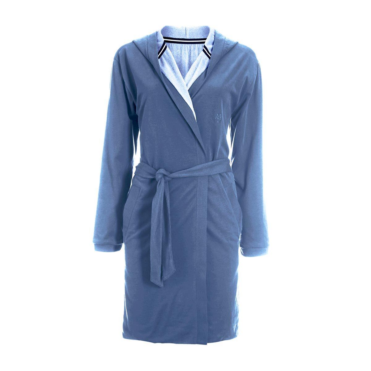 marc o polo damen bademantel fima blue lilac g nstig online kaufen bei bettwaren shop. Black Bedroom Furniture Sets. Home Design Ideas