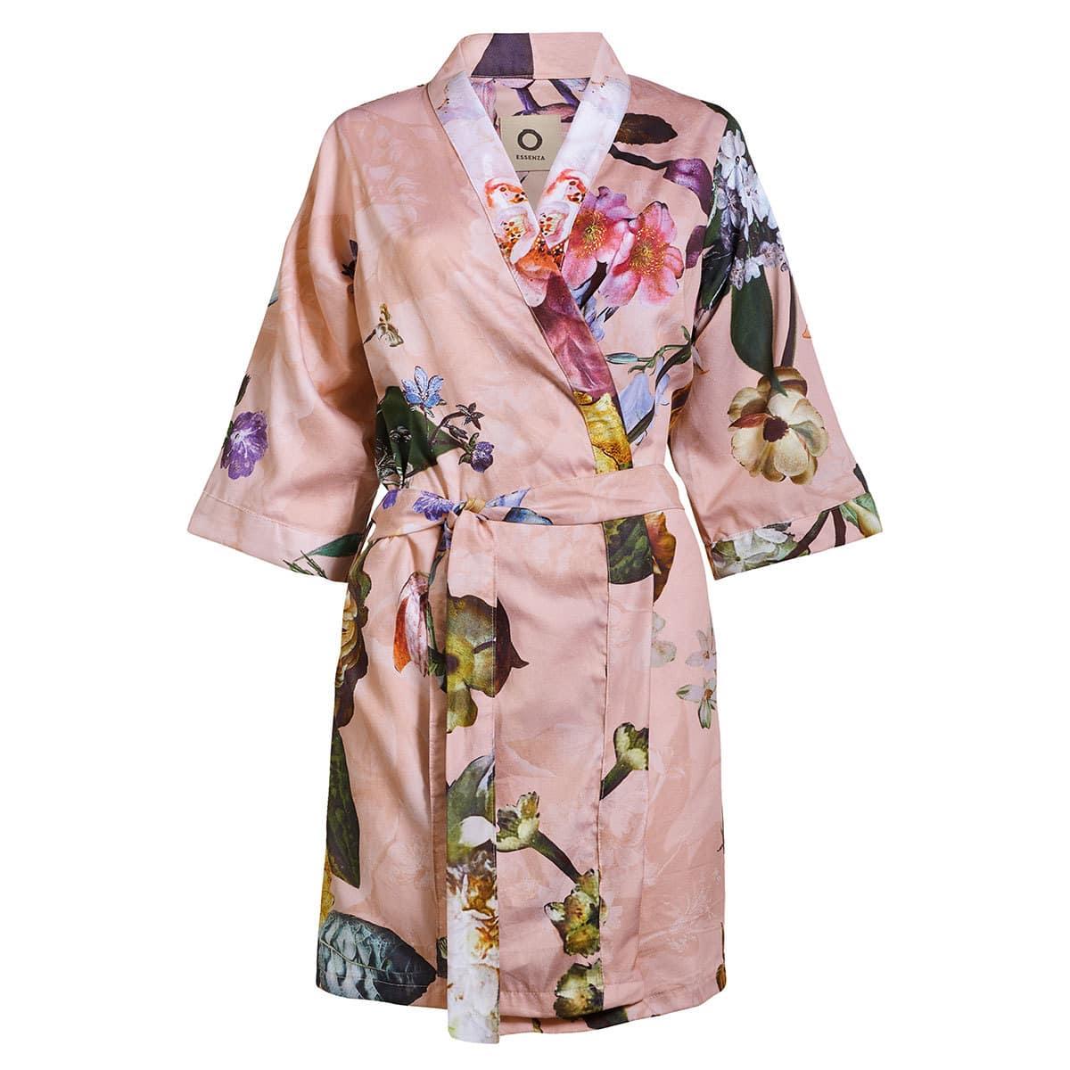 Essenza Damen Bademantel Kimono Fleur rose