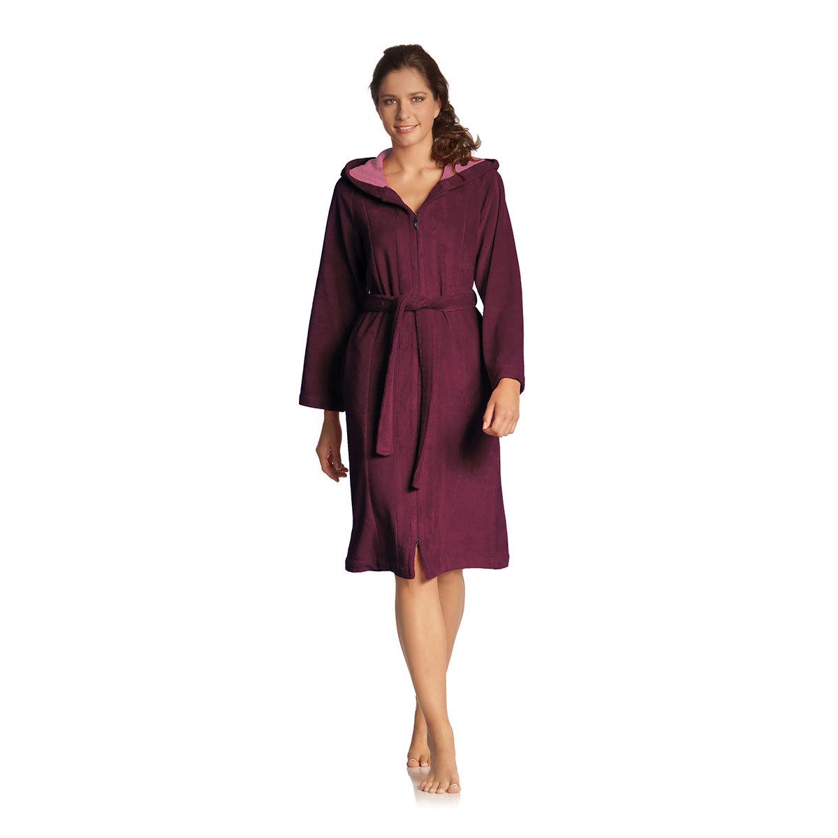 vossen damen bademantel palermo burgundy g nstig online kaufen bei bettwaren shop. Black Bedroom Furniture Sets. Home Design Ideas