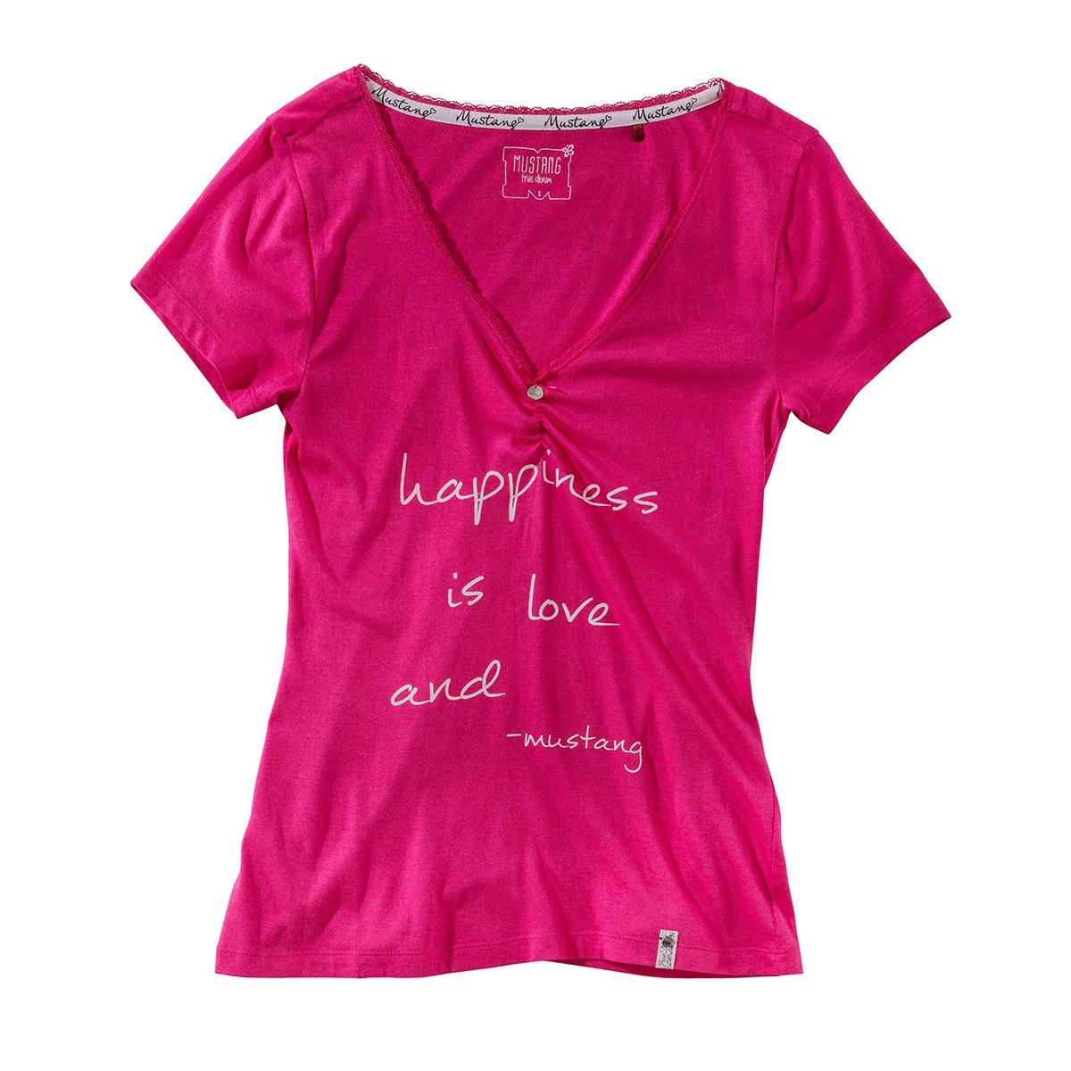 Mustang Damen Freizeitshirt kurzarm pink
