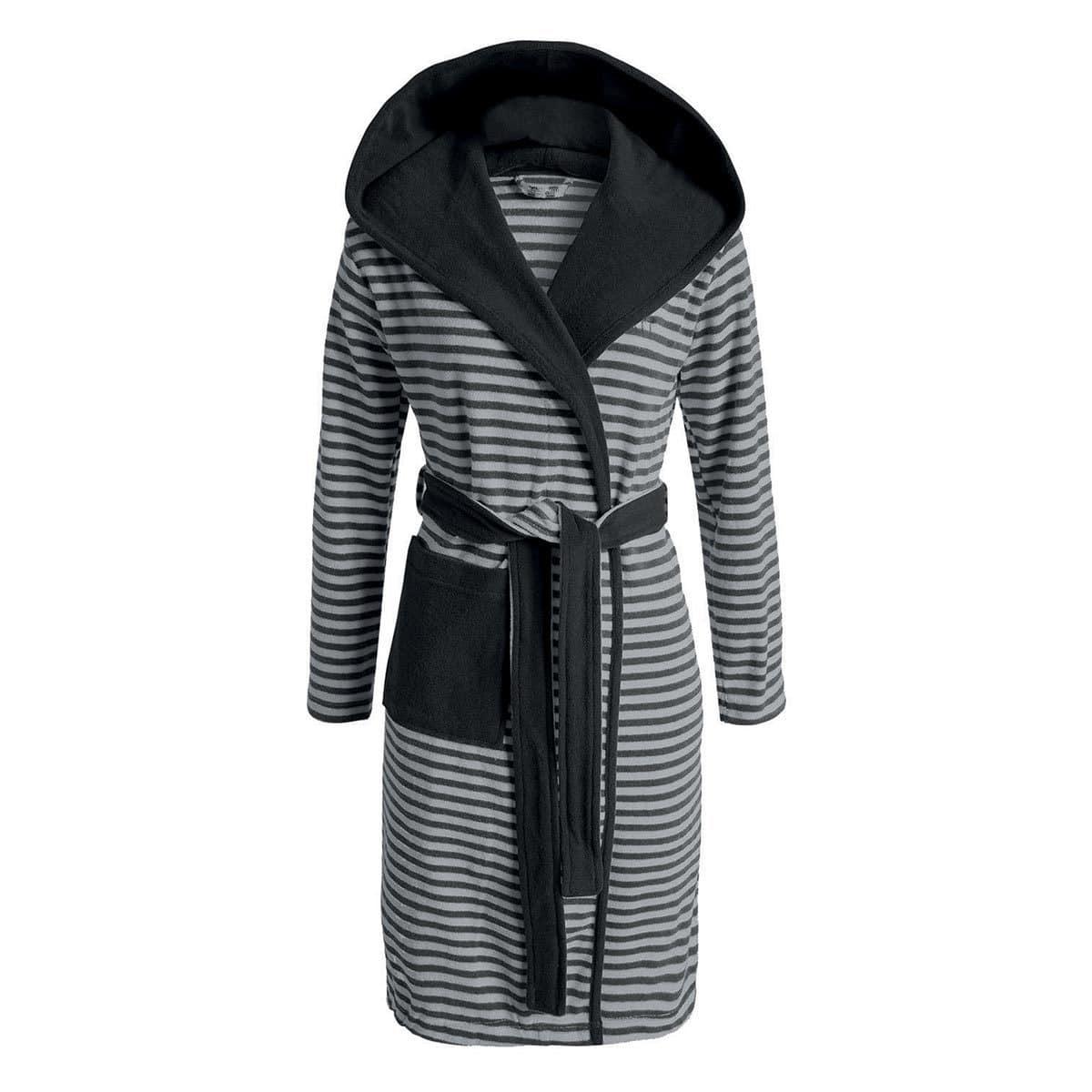 098dfa49c01743 Esprit Damen Kapuzenmantel Striped Hoodie anthracite günstig online kaufen  bei Bettwaren Shop
