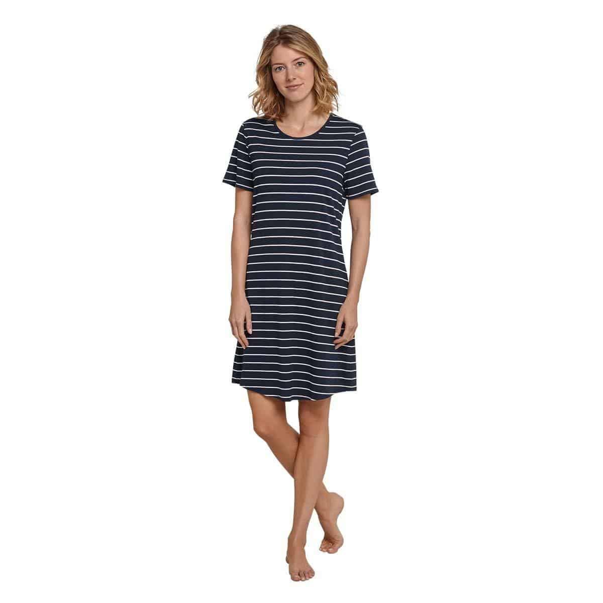 Schiesser Damen Nachthemd 1/2 Arm nachtblau