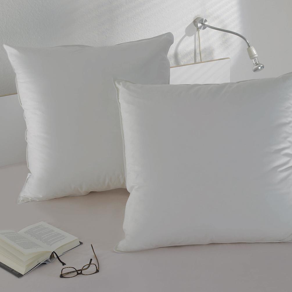 BettwarenShop Daunen 3-Kammerkissen Doppelpack 60% Daunen, 40% Federn
