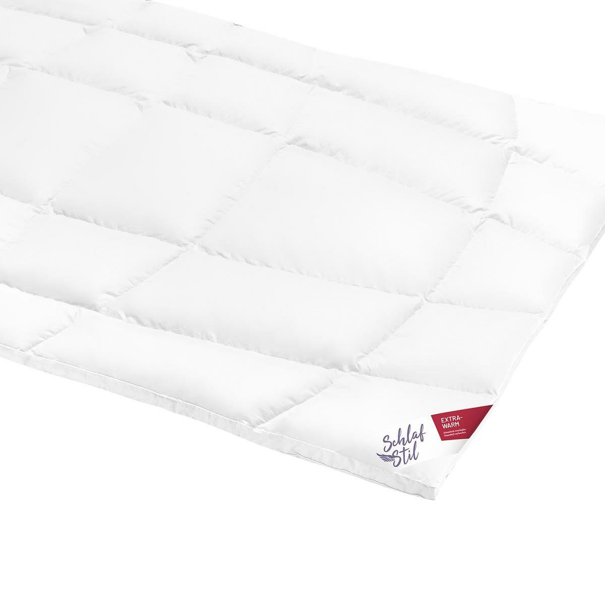 Schlafstil Daunendecke D1000 extra warm, Füllung: 100% Eiderdaunen