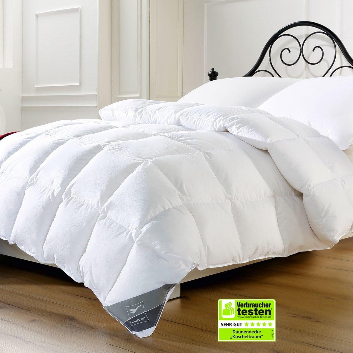 Bettdecke Decke Oberbett Ganzjahresdecke Füllung 1200g 60/%Daunen 155x220cm