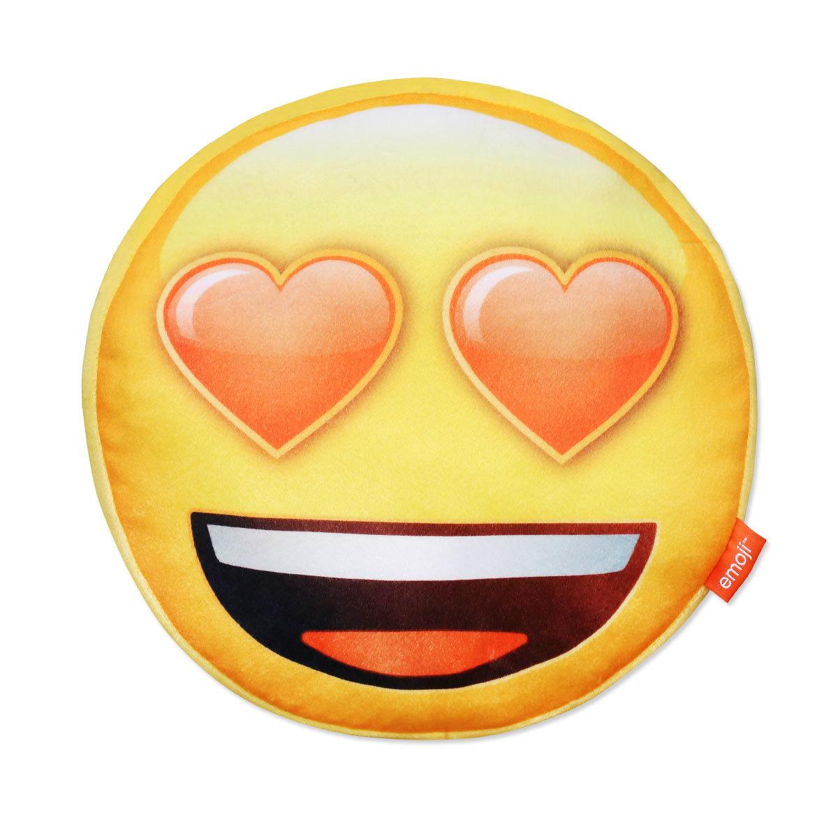 SkyBrands Dekokissen Rundkissen Emoji gefüllt