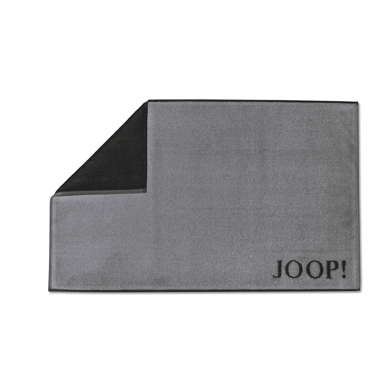 JOOP Doubleface Badematte Classic anthrazit-schwarz