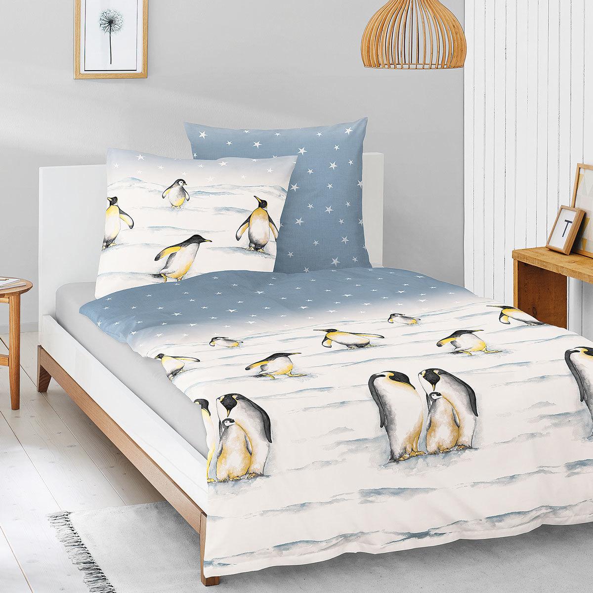 Irisette Edel-Feinbiber Bettwäsche Feel Pinguine