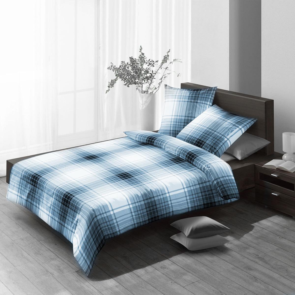 fleuresse edelflanell bettw sche 602949 12 indigo g nstig. Black Bedroom Furniture Sets. Home Design Ideas