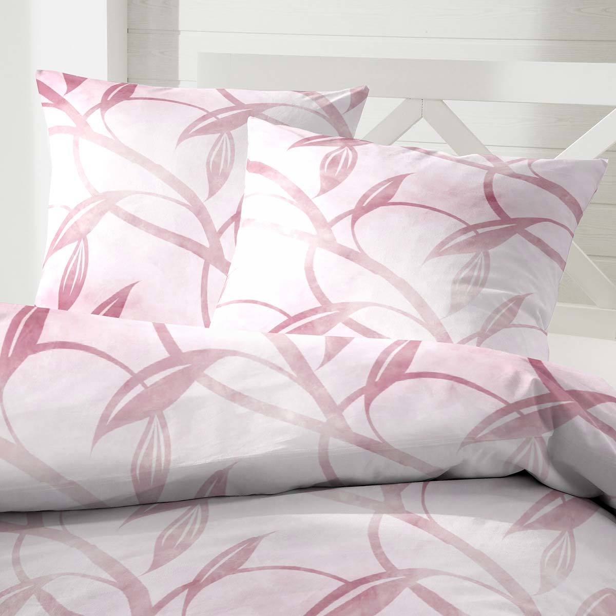 Enrico Coss Edelflanell Bettwäsche Floral pink
