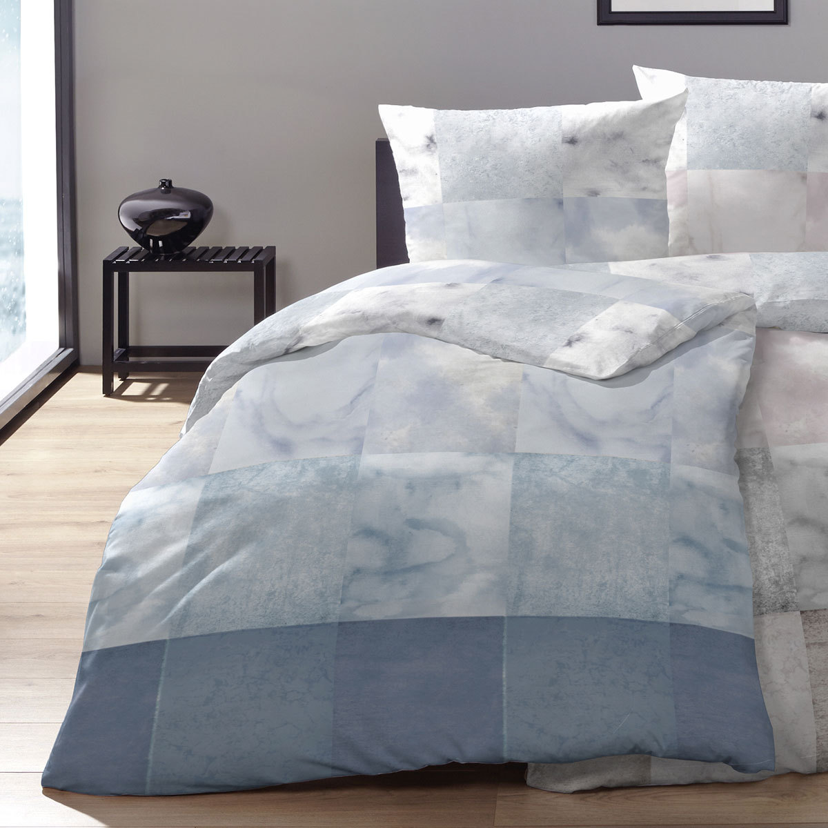 enrico coss edelflanell bettw sche lyon blau g nstig online kaufen bei bettwaren shop. Black Bedroom Furniture Sets. Home Design Ideas