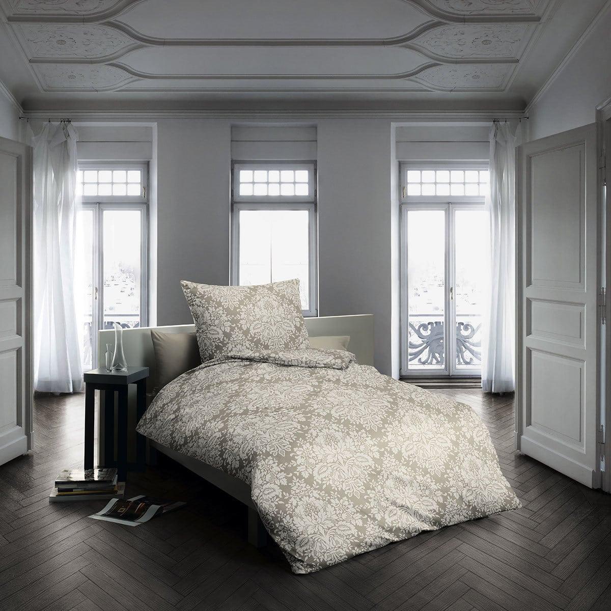 fleuresse edelflanell bettw sche ornamente mandel g nstig online kaufen bei bettwaren shop. Black Bedroom Furniture Sets. Home Design Ideas