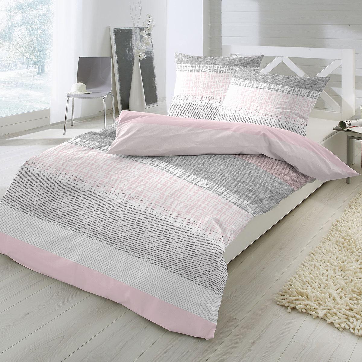 enrico coss edelflanell bettw sche venice rose g nstig online kaufen bei bettwaren shop. Black Bedroom Furniture Sets. Home Design Ideas