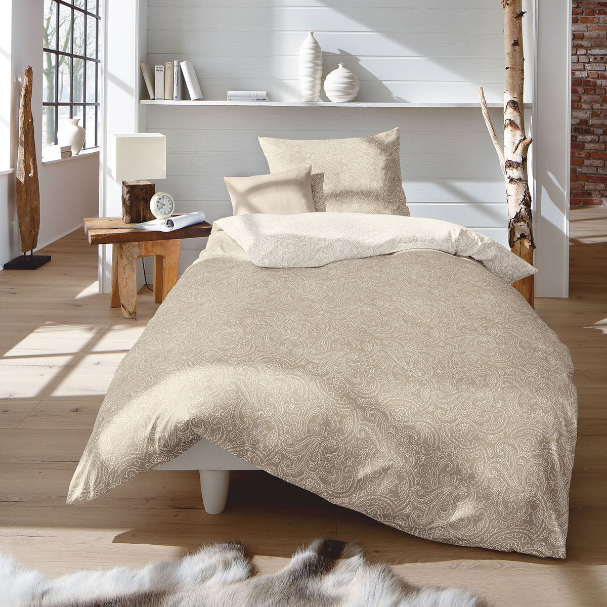 fleuresse edelflanell wendebettw sche jacquard 603741 07. Black Bedroom Furniture Sets. Home Design Ideas