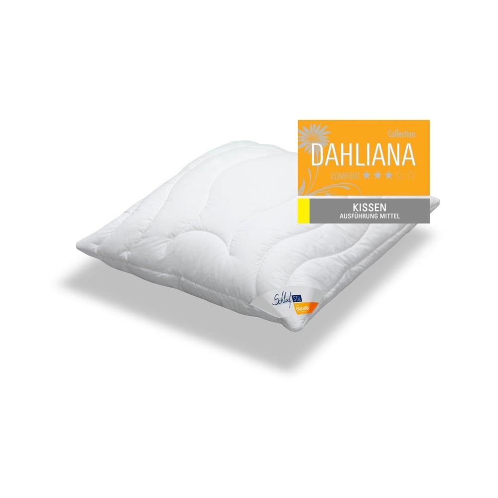 schlafstil faser kopfkissen dahliana mittel g nstig online kaufen bei bettwaren shop. Black Bedroom Furniture Sets. Home Design Ideas