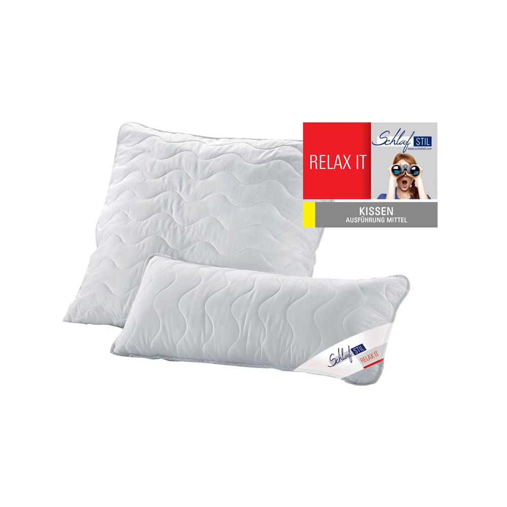 Schlafstil Faser Kopfkissen Relax It mittel