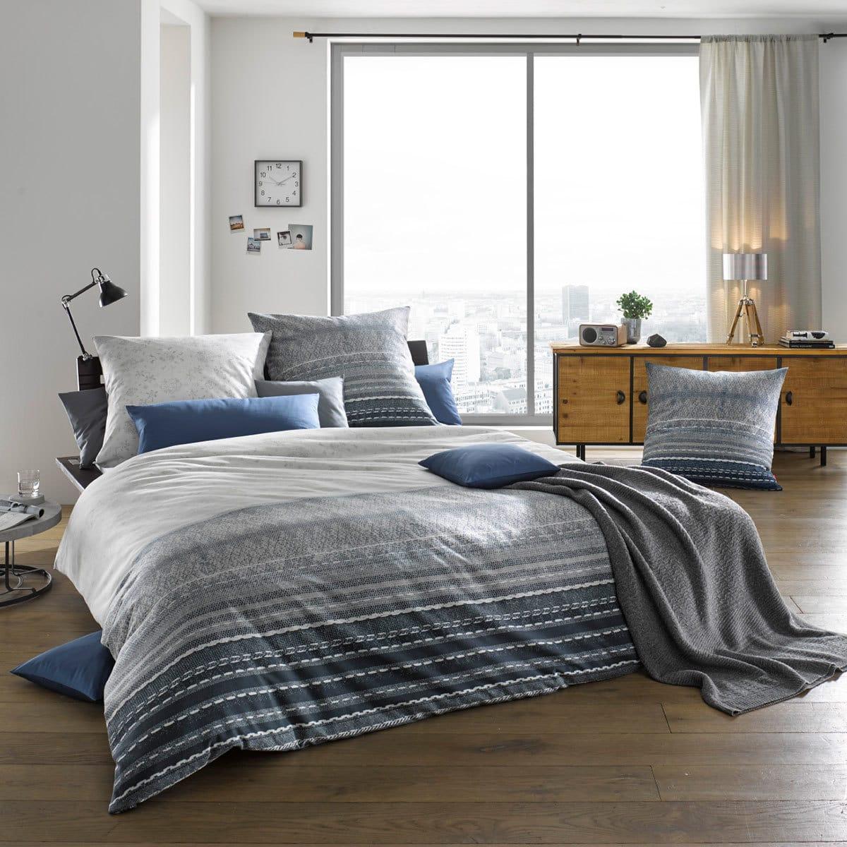 fleuresse feinbiber bettw sche aspen 433820 dark denim g nstig online kaufen bei bettwaren shop. Black Bedroom Furniture Sets. Home Design Ideas