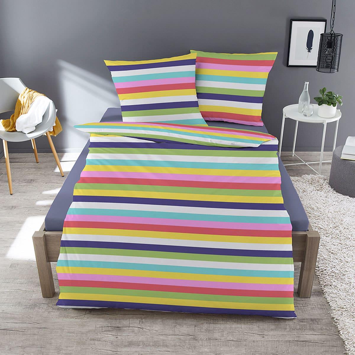 Traumschlaf Feinbiber Bettwäsche Rainbow