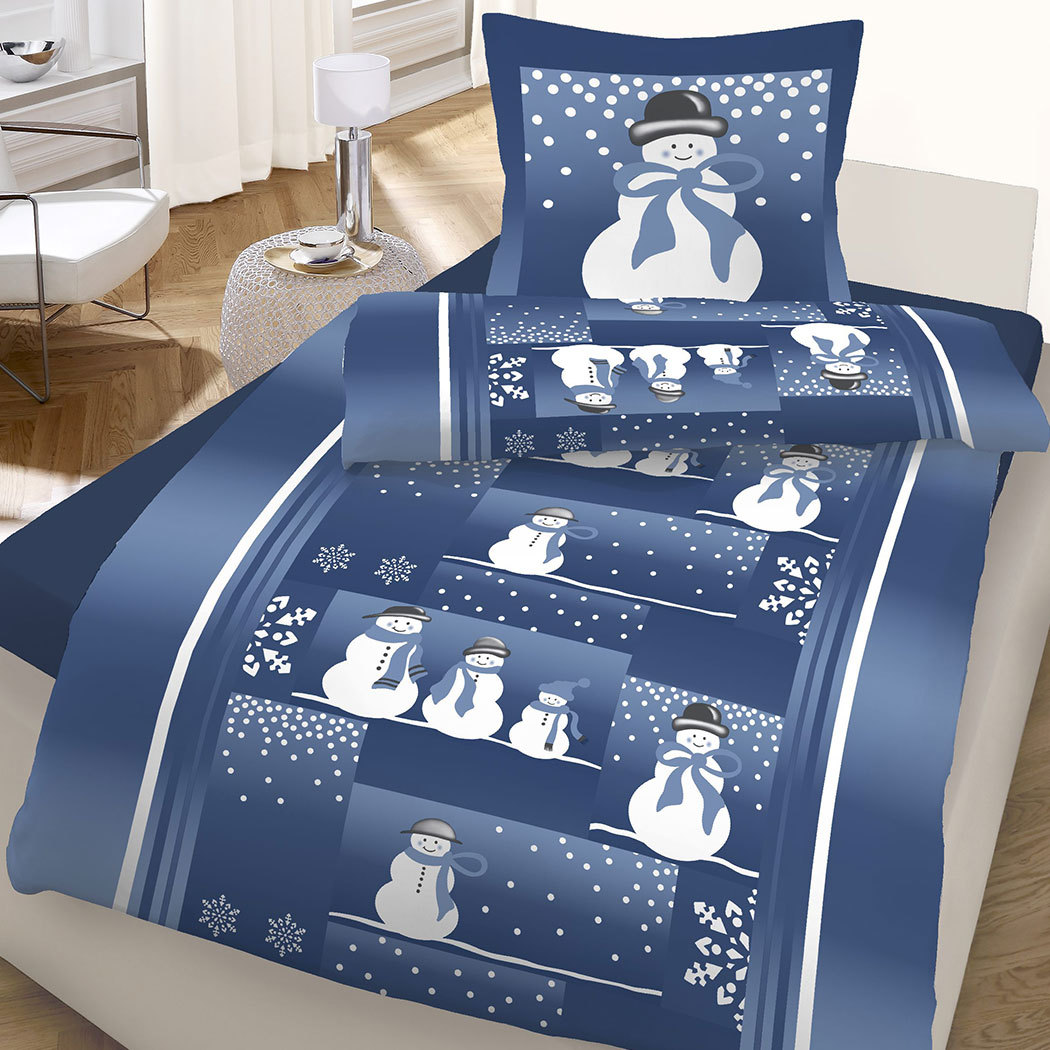 dobnig feinbiber bettw sche schneemann g nstig online kaufen bei bettwaren shop. Black Bedroom Furniture Sets. Home Design Ideas