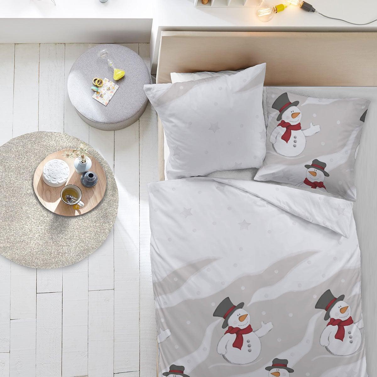 dormisette feinbiber bettw sche schneemann g nstig online. Black Bedroom Furniture Sets. Home Design Ideas