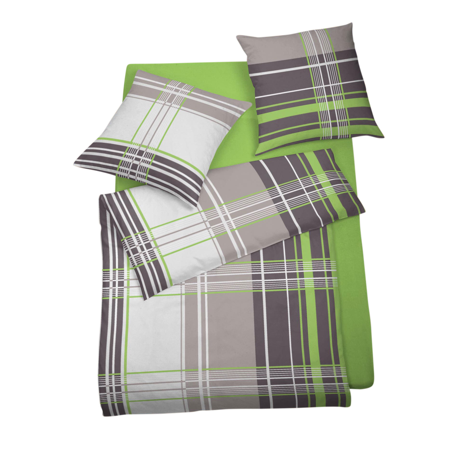 bettwarenshop feinbiber bettw sche streifen apfel g nstig online kaufen bei bettwaren shop. Black Bedroom Furniture Sets. Home Design Ideas
