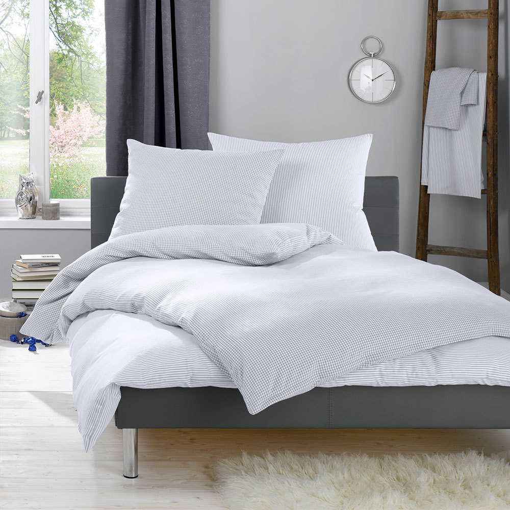 lorena feinflanell bettw sche daphne grau g nstig online kaufen bei bettwaren shop. Black Bedroom Furniture Sets. Home Design Ideas