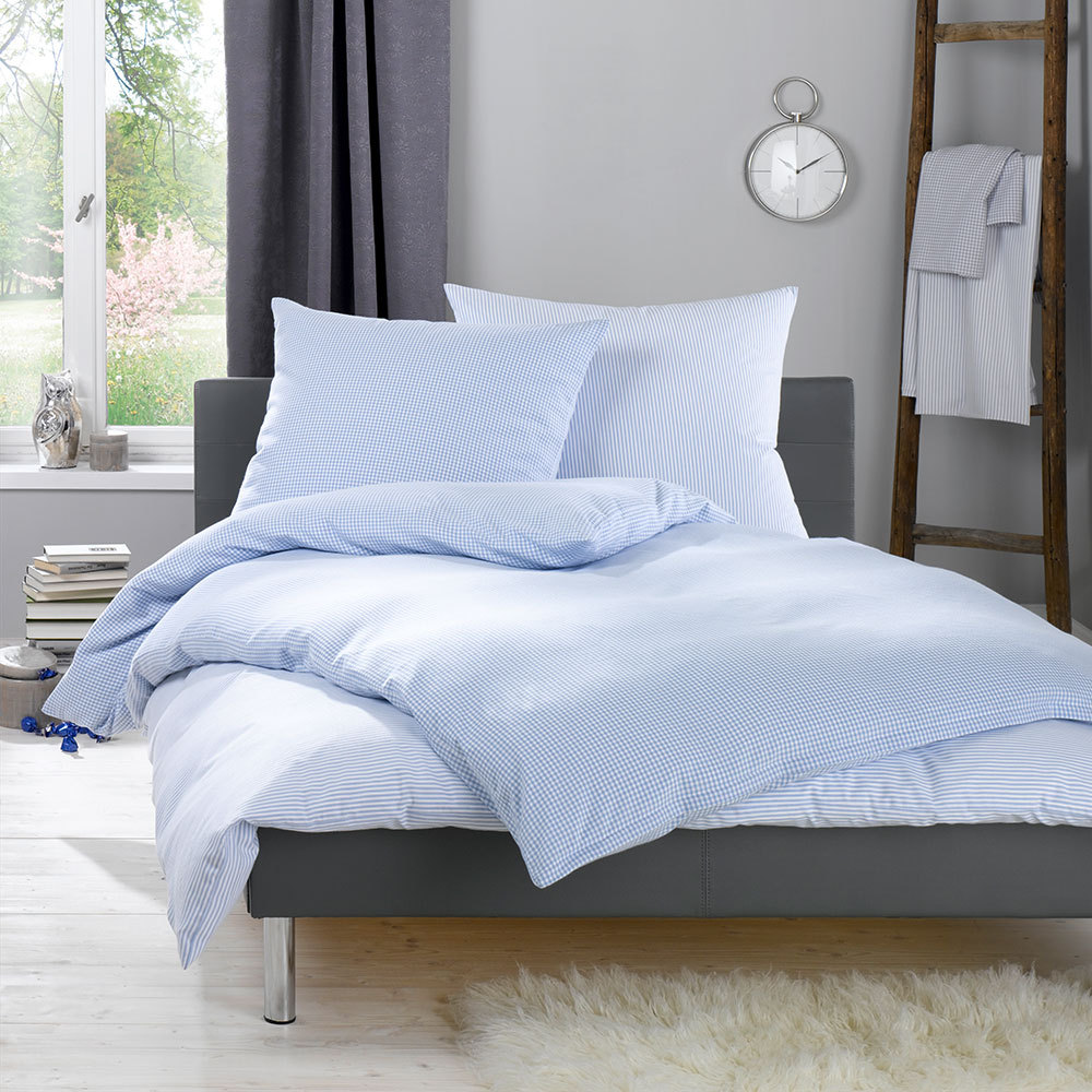 lorena feinflanell bettw sche daphne hellblau g nstig. Black Bedroom Furniture Sets. Home Design Ideas