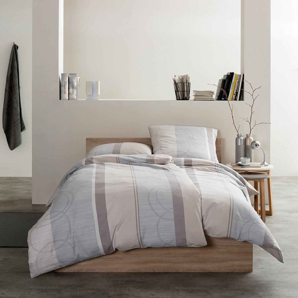 estella feinflanell bettw sche dolomiti kiesel g nstig online kaufen bei bettwaren shop. Black Bedroom Furniture Sets. Home Design Ideas