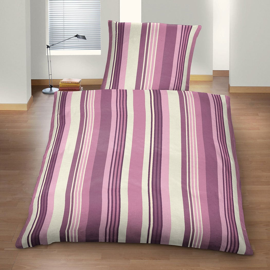 BettwarenShop Feinflanell Bettwäsche Stripes
