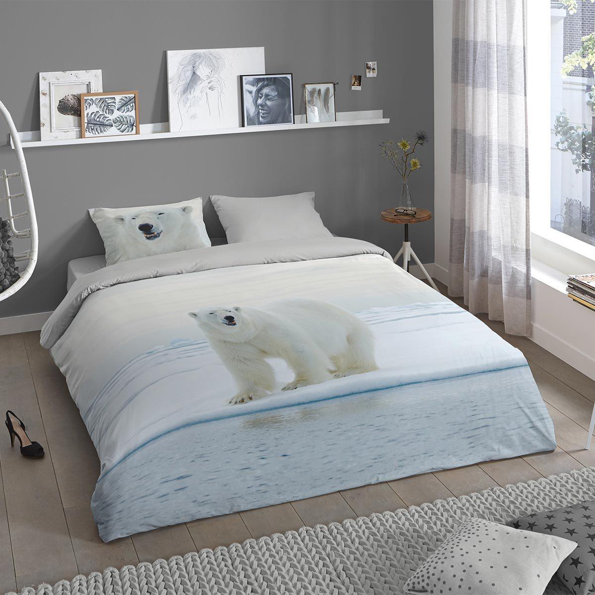 Traumschlaf Flanell Bettwäsche Eisbär