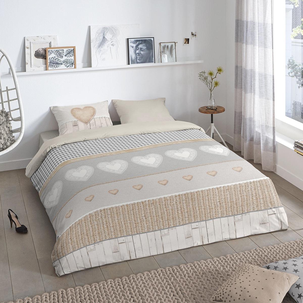 good morning flanell bettw sche herzen g nstig online kaufen bei bettwaren shop. Black Bedroom Furniture Sets. Home Design Ideas