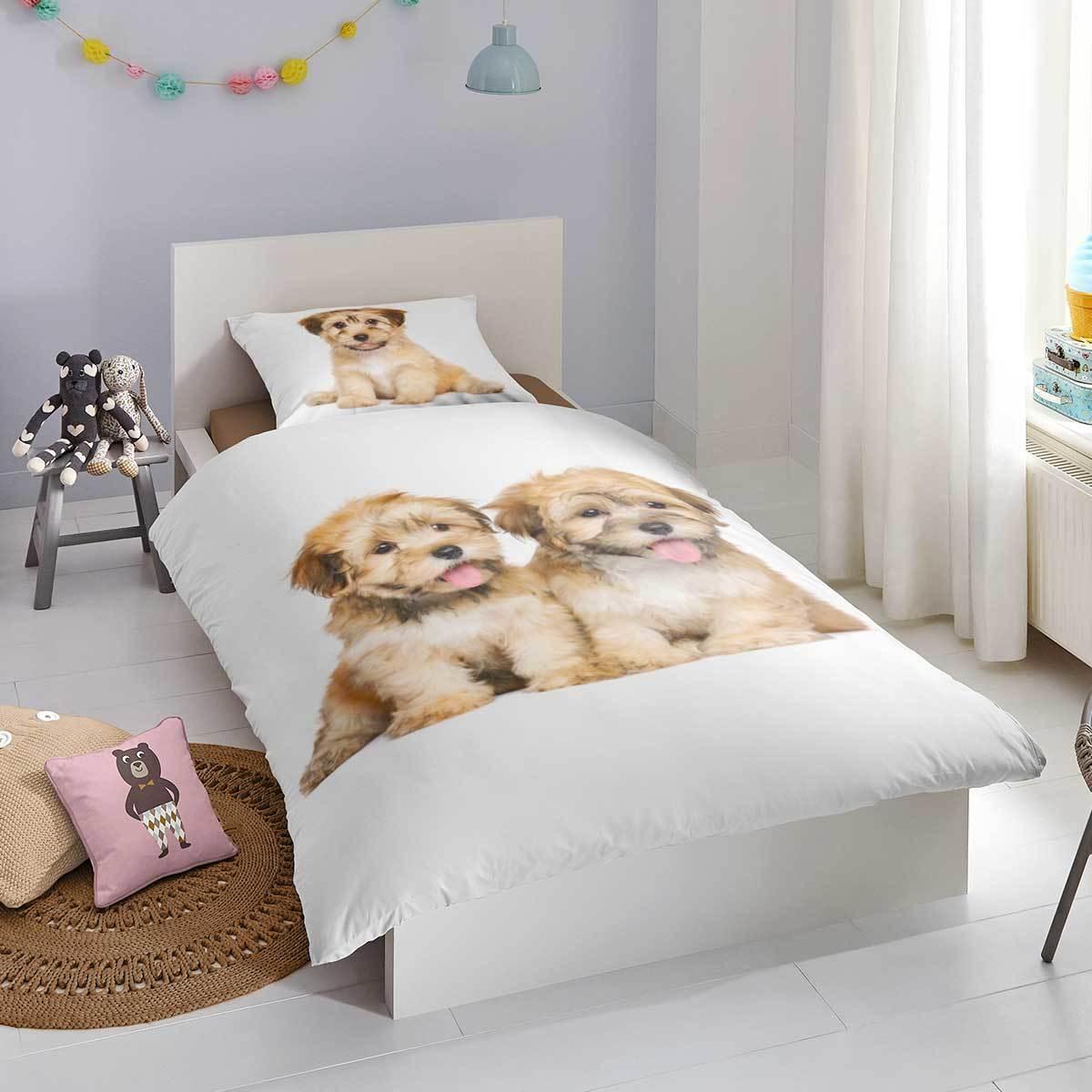 Good Morning Flanell Bettwäsche Hunde