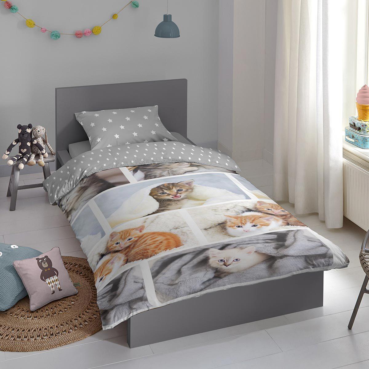Good Morning Flanell Bettwäsche Kitty multi