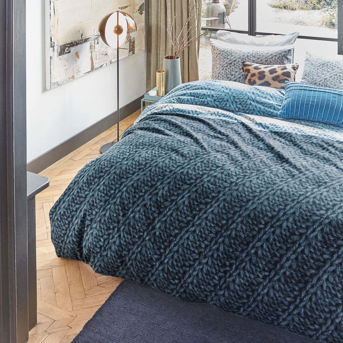 beddinghouse flanell bettw sche merino blue g nstig online kaufen bei bettwaren shop. Black Bedroom Furniture Sets. Home Design Ideas