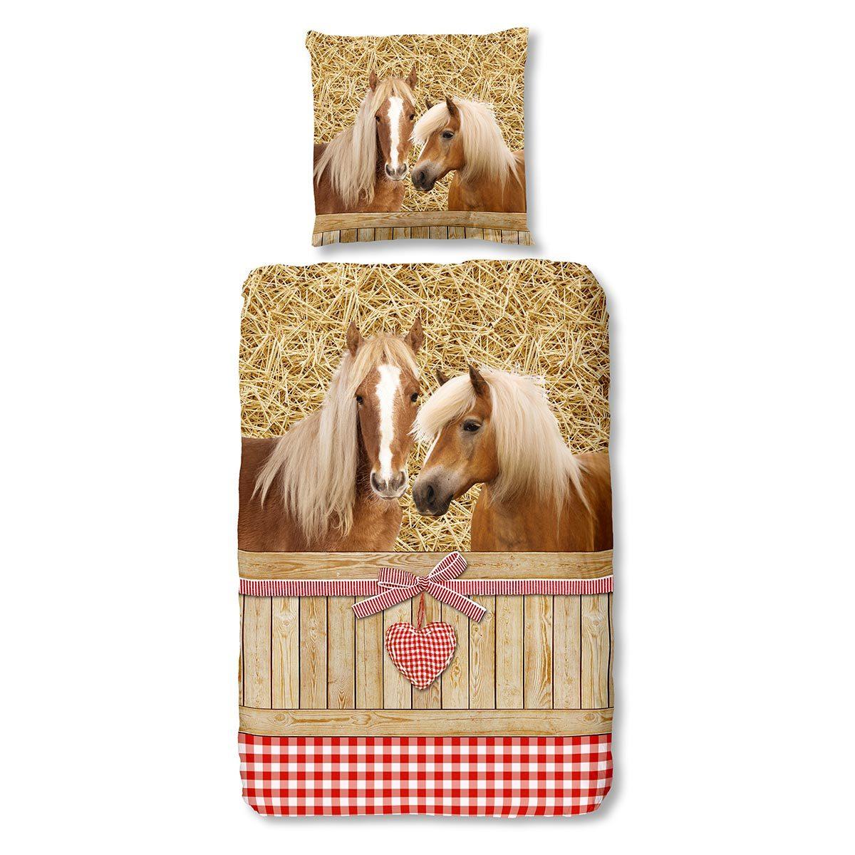 Traumschlaf Flanell Bettwäsche Pferde