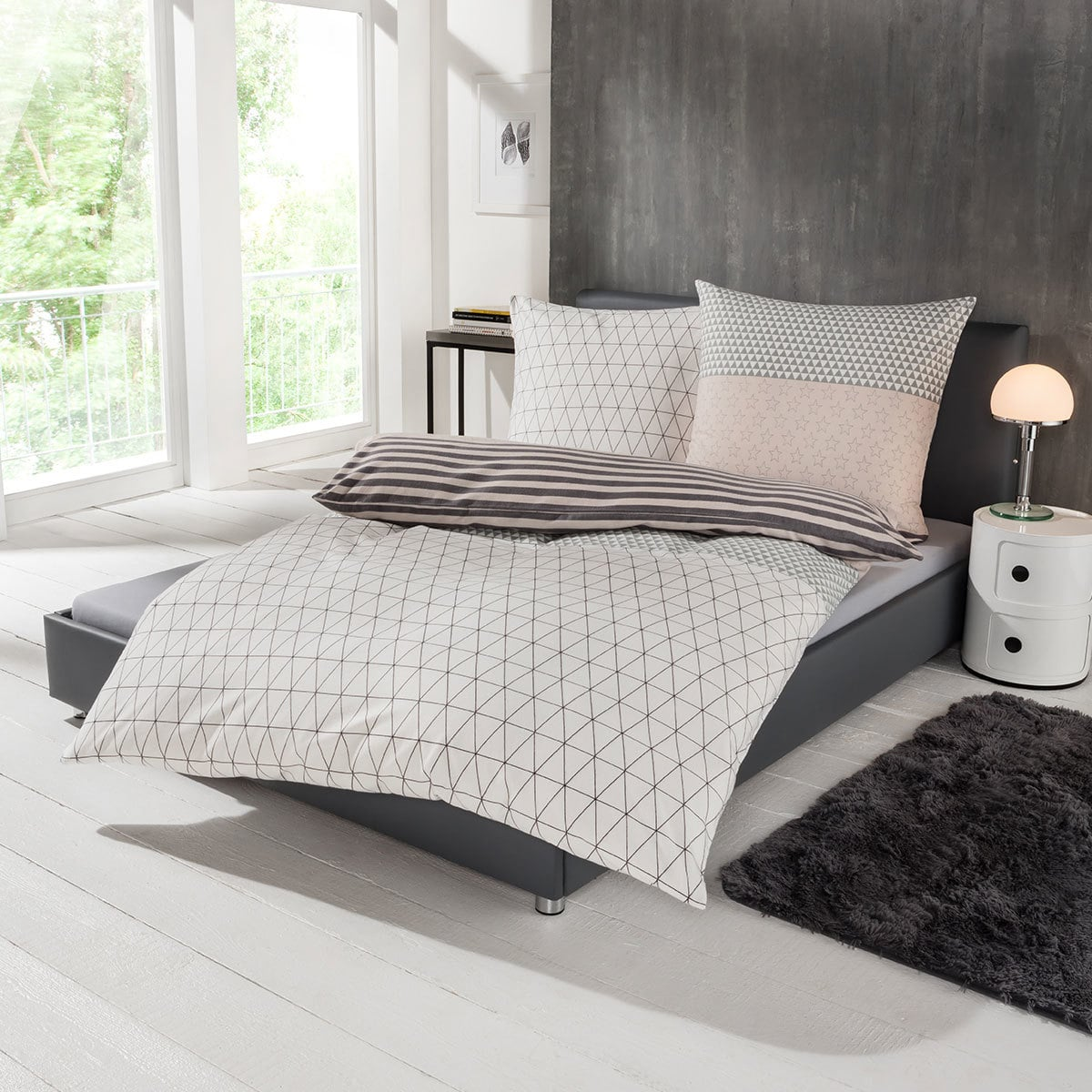 s oliver flanell bettw sche stars g nstig online kaufen bei bettwaren shop. Black Bedroom Furniture Sets. Home Design Ideas