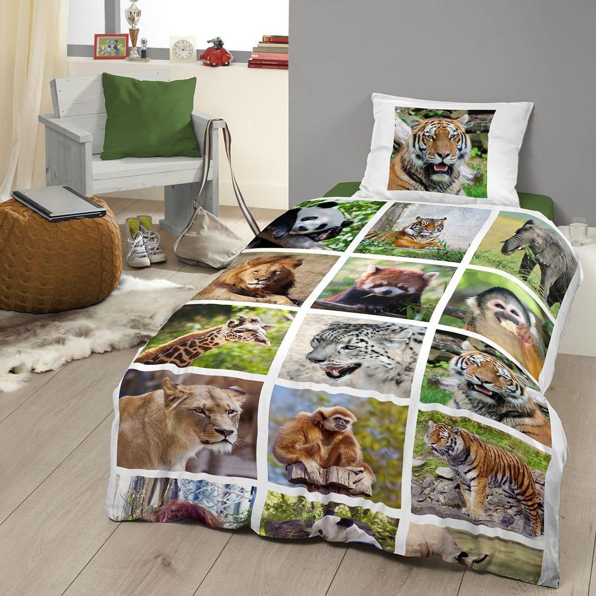 good morning flanell bettw sche wild g nstig online kaufen bei bettwaren shop. Black Bedroom Furniture Sets. Home Design Ideas